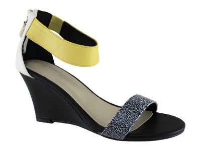Lavish Micro Sythenic Wedge - Lemon