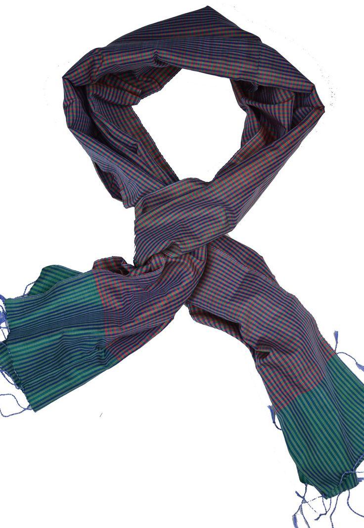 Sreyneang - Scarves from Cambodia - Handmade Silk Scarf from Cambodia (KRFS101), £39.90 (http://www.sreyneang.co.uk/handmade-silk-scarf-from-cambodia-krfs101/)