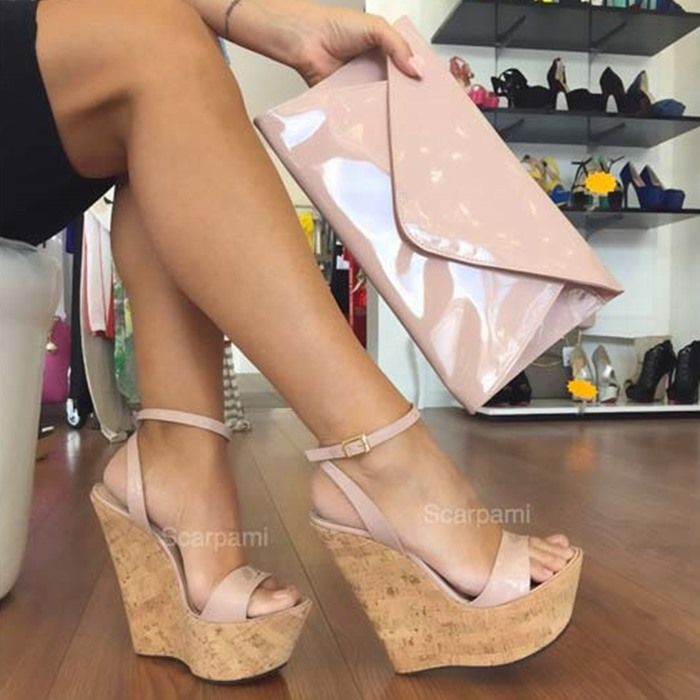 Best wedges images on pinterest high heels ladies shoes
