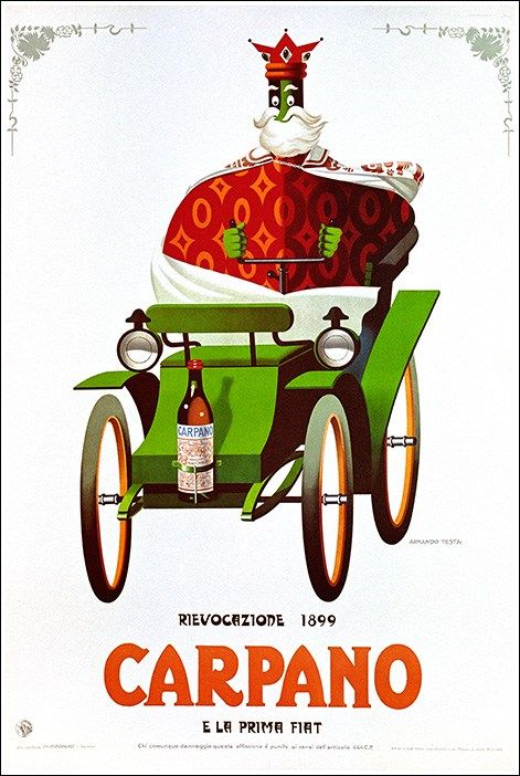 Vintage Italian Posters ~ #illustrator #Italian #vintage #posters ~ Carpano Vermouth