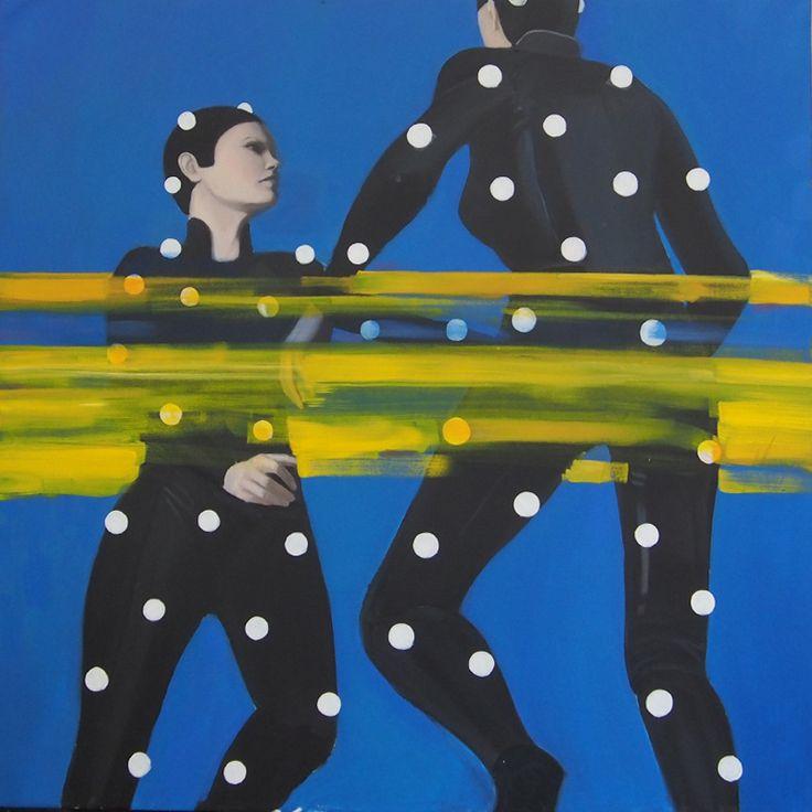 Motion capture, oil on canvas, 100x100 cm