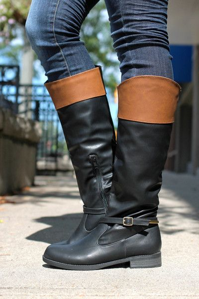 Black Riding Boot Turner-16 | UOIOnline.com: Women's Clothing Boutique