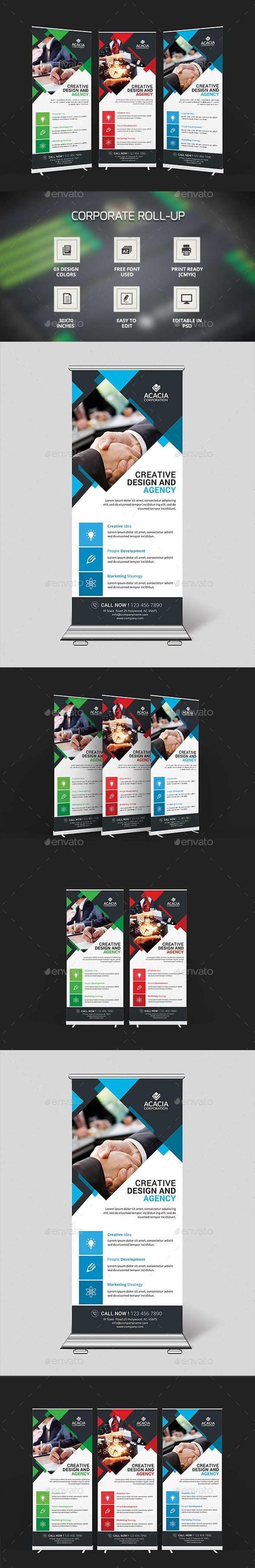 Simple Roll-Up Banners Template PSD. Download here: http://graphicriver.net/item/simple-rollup-banners/16072501?ref=ksioks