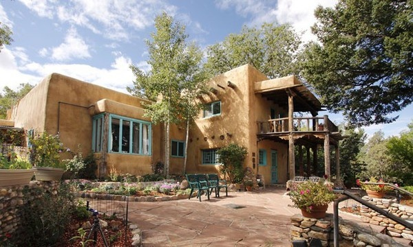 1000 images about exterior southwestern adobe on for Santa fe style homes