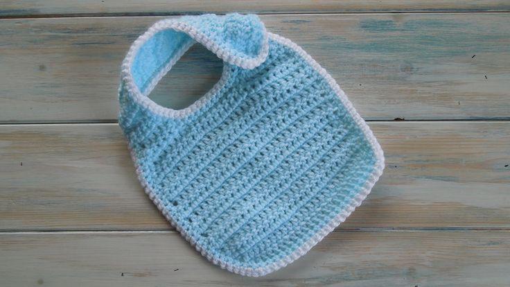 (crochet) How To - Crochet a Newborn Baby Bib - Yarn Scrap Friday