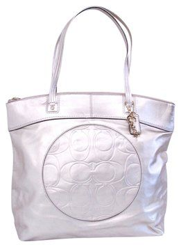 Coach Metallic Leather Hand Gold Tote Bag $113