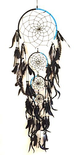 Dream Catcher XX LARGE HUGE Hand Crafted BLACK