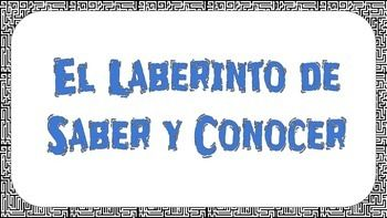 saber vs conocer spanish laberinto a well them and the two. Black Bedroom Furniture Sets. Home Design Ideas