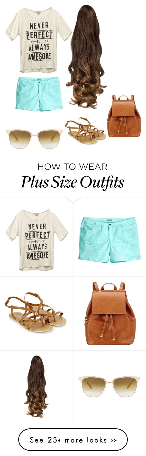 """""""Outift for Plus size :). Hope you like it"""" by itsshelg on Polyvore featuring Wet Seal, Accessorize, H&M, Barneys New York and Oliver Peoples"""