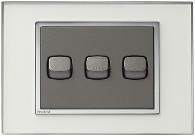 White Hamptons Light Switch and Power Point