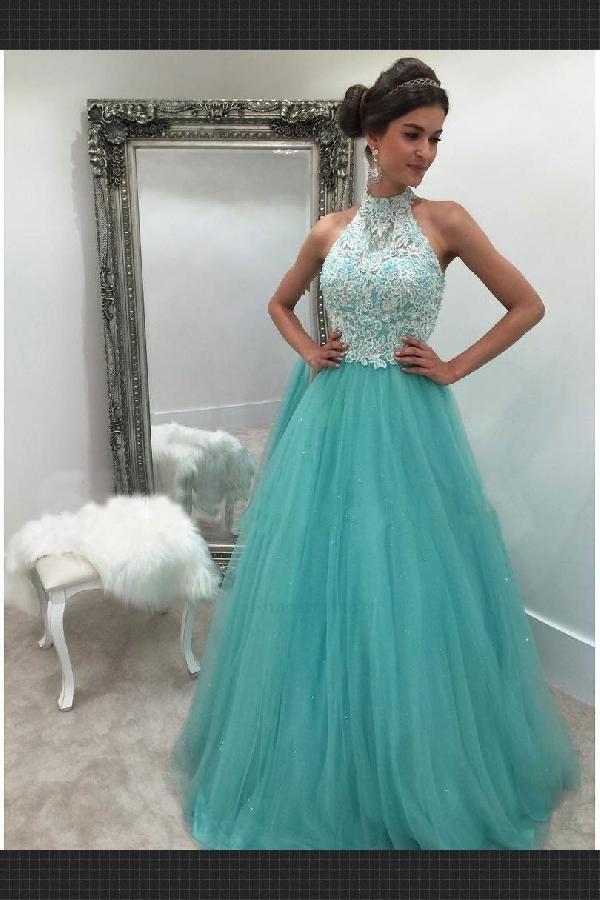 Prom Dresses Long 2019 Prom Dresses Cute Prom Dresses Lace Prom Dresses High Neck Prom Dress Turquoise Prom Dresses High Neck Prom Dress Cheap Prom Dresses