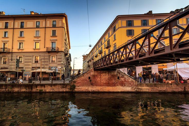 Navigli Iron Bridge, #Milan #Italy