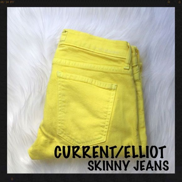 Current Elliot Yellow Skinny Jeans Excellent condition, size 25 Current Elliot rolled skinny jeans Current/Elliott Jeans Skinny