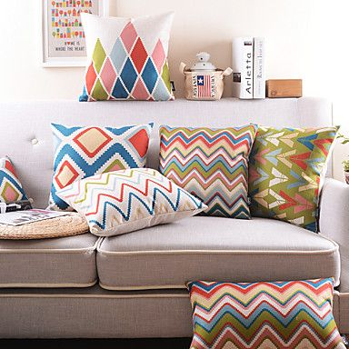 Classic/Decorative/Modern/Contemporary Geometric Pillow Case/Memory Foam Pillow/Throws/Pillow Cover – USD $ 29.99