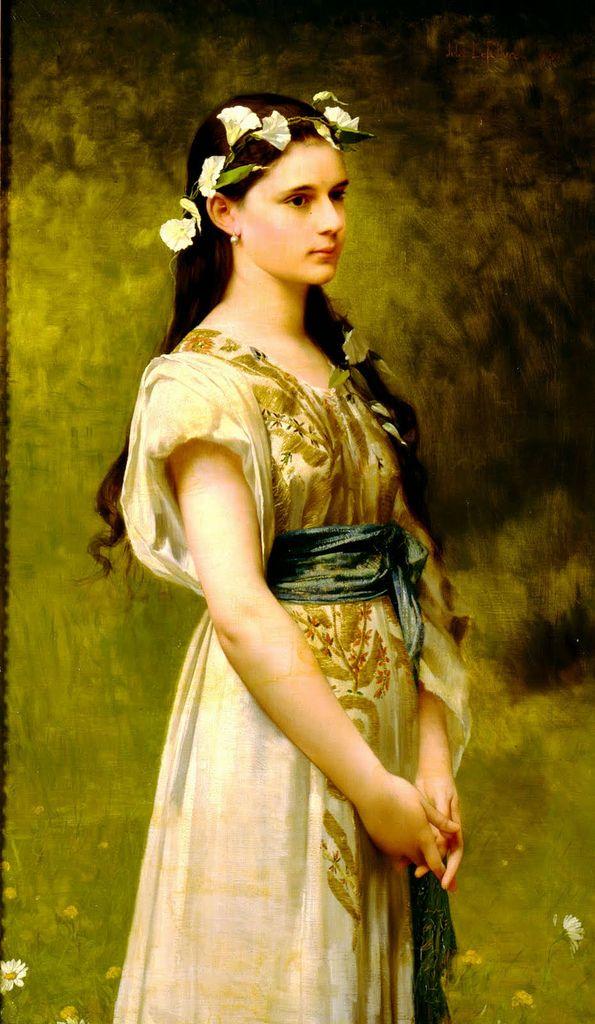 Jules Joseph Lefebvre Portrait of Julia Foster Ward 1880   Flickr - Photo Sharing!