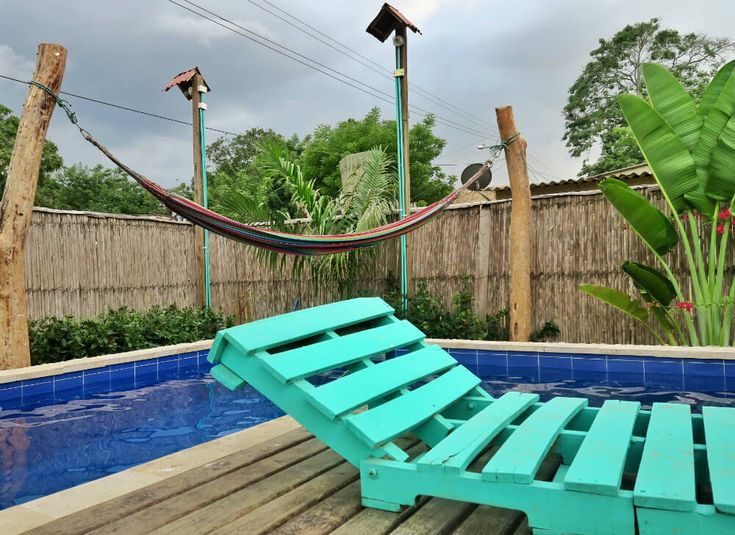 The element of water represented in the pool area at TRIBE Guesthouse Palomino, Colombia   A Private Oasis: Sleep In The Clouds At TRIBE Guesthouse Palomino, Colombia