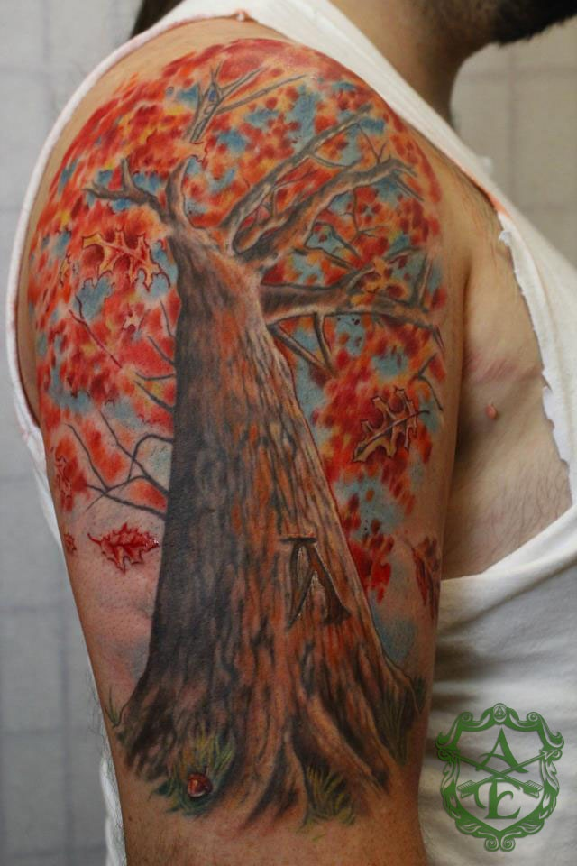 98 best images about tree tattoos on pinterest trees for 1 4 sleeve tattoo