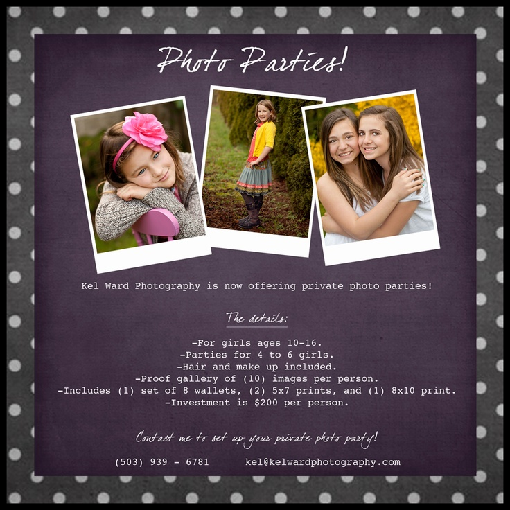 Kel Ward Photography | Salem, Oregon: Salem Teen Photographer | Introducing Photo Parties!
