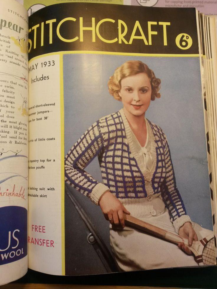 Knitting Magazine Cover : Best images about vintage stitchcraft magazine on
