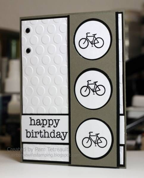 Happy Birthday bicycle card by airbornewife - Cards and Paper Crafts at Splitcoaststampers Joy Ride
