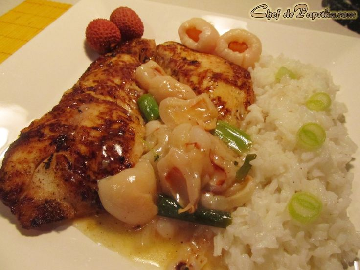 Asian fish recipe perch with lychee sauce love lychees for Thanksgiving fish recipes