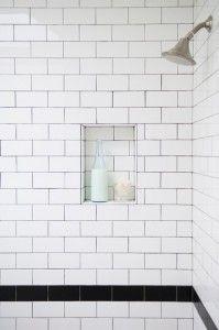 I love white subway tile for the bathroom
