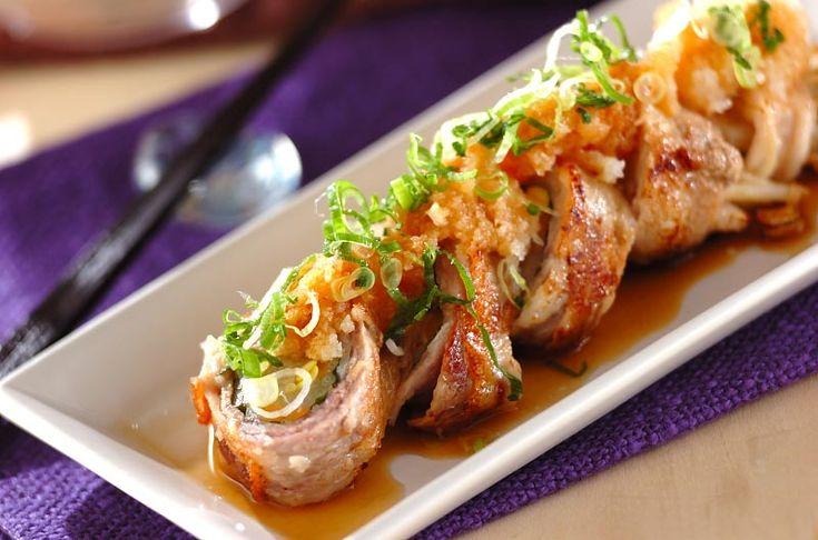 ゆでモヤシの豚肉ロールのレシピ・作り方 - 簡単プロの料理レシピ | E・レシピ