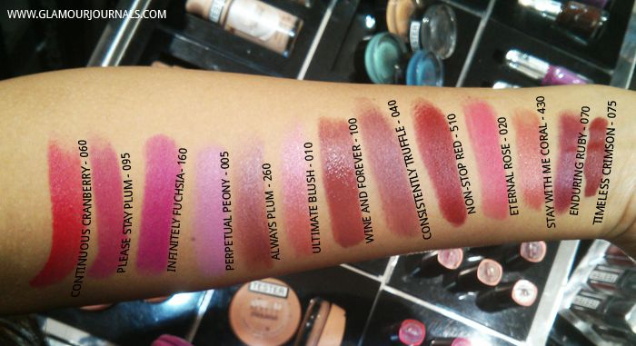 All Maybelline Super Stay 14Hr Lipstick Swatches and Price in India