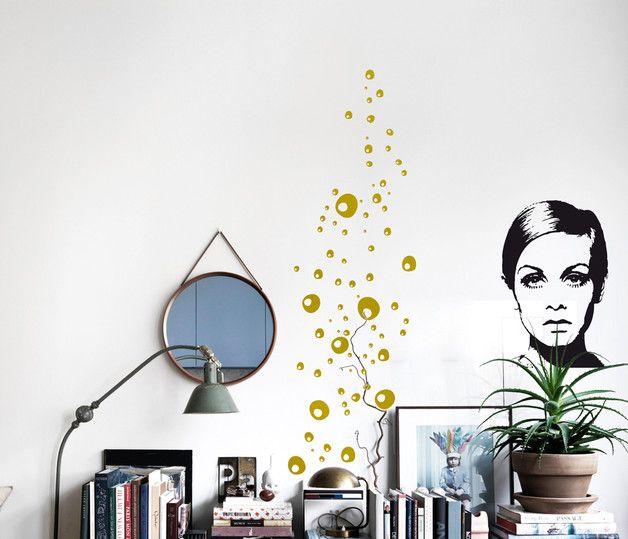 Good SEIFENBLASEN GOLD Wandsticker DIY Wandtattoo Dots