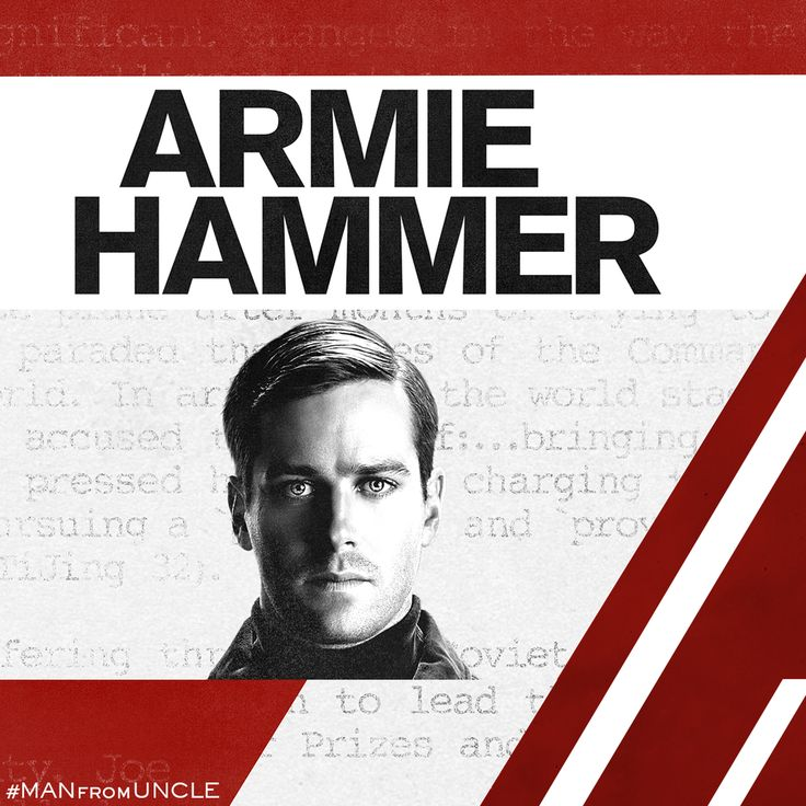 Russian Spy. New Ally. #ArmieHammer #ManFromUNCLE
