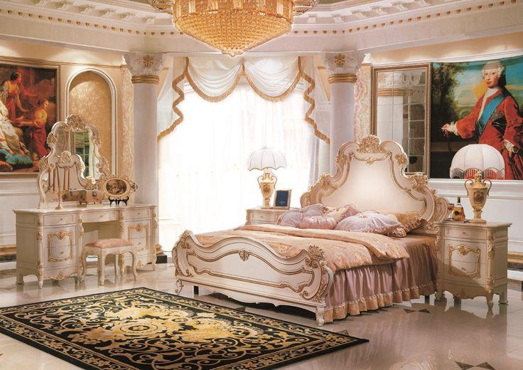 輸入家具のローマンディール HC-8008BDロココ調高級ベッド