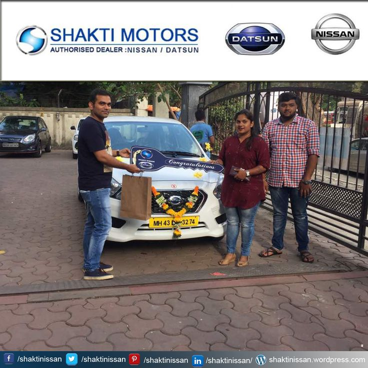 """Our Proud Customer Congratulations """"Tripti Trips Tours and Travels"""" for getting her new #DATSUNCar. Know more about Shakti Nissan : http://goo.gl/Cj4lNH  #DatsunCarDelivery #NissanCar #Sunny #Terrano"""