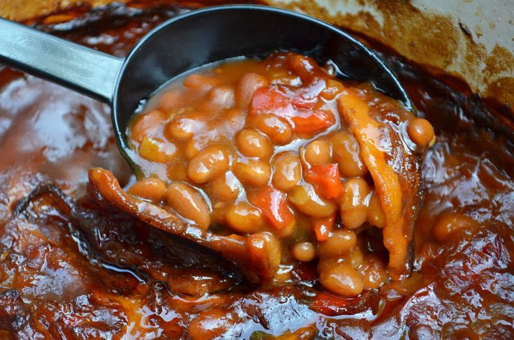 Mom's Famous Southern-Style Baked Beans - Three Many Cooks