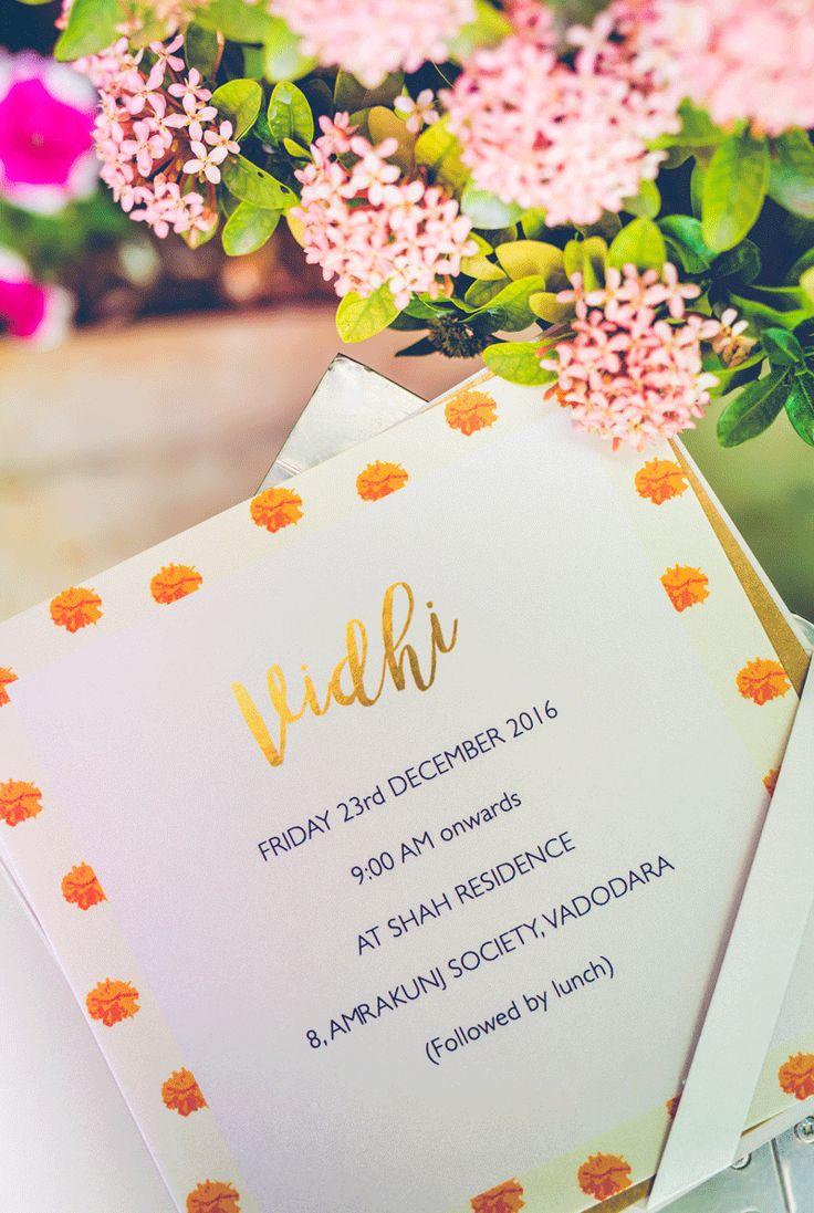 Uneesh u0026 Aashnau0027s wedding invites wedding weddinginspiration