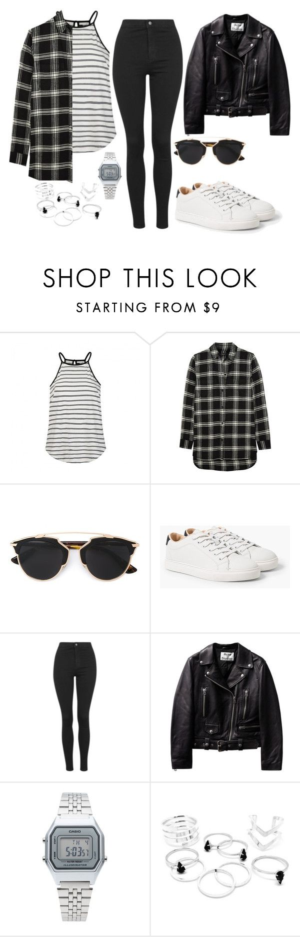 """Halsey #1"" by franciscagomezm on Polyvore featuring moda, Ally Fashion, Madewell, Christian Dior, MANGO, Topshop, Casio, women's clothing, women y female"