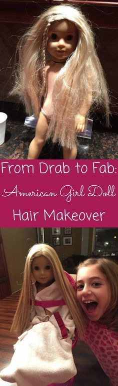 {DIY} How to fix your American Girl tangled hair in less than 30 minutes - and make it look brand new!