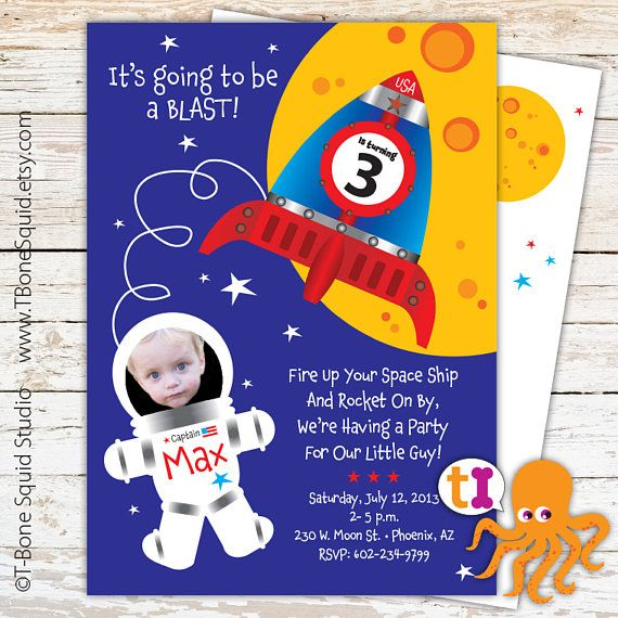 874 best Birthday Party Ideas for kids images – Rocket Ship Birthday Invitations