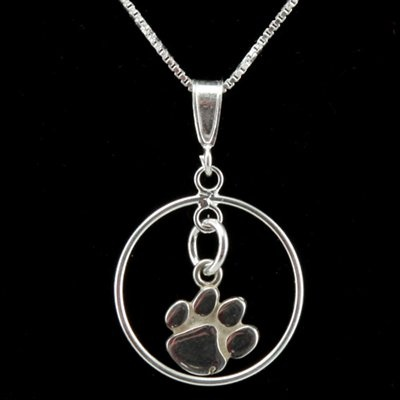 Dayna U Clemson Tigers Sterling Silver Open Drop Necklace