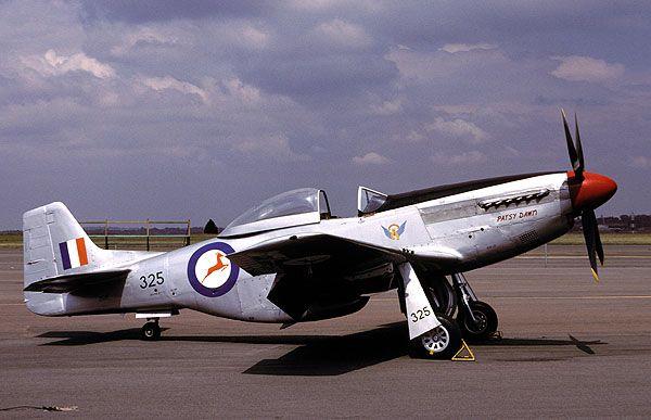 "Mustang P-51D-20NA - South African Air Force Mustang ""325"" at Swartkops."