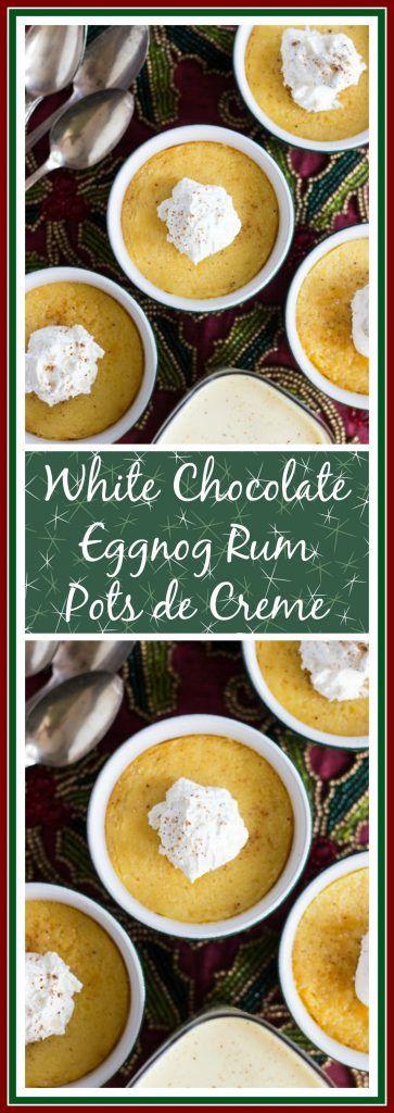 Rum Eggnog Pots de Creme