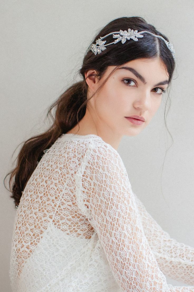 Swoon over jannie baltzer s wild nature bridal headpiece collection - Gertrud Headpiece Shop The Collection