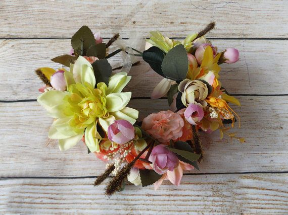Sunny Girl Hair Flower Garland Crown Wreath Hay Ride