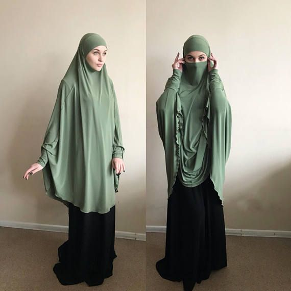 Transformer olive color Khimar, #niqab burqa, olive #niqab, traditional burqa, French hijab ready to wear to wear hijab, long #hijab , burqa, long #khimar , #jilbab