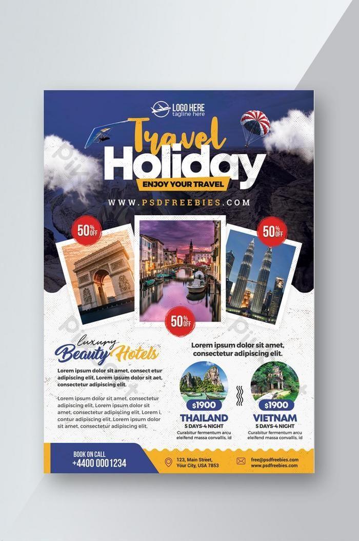 Over 1 Million Creative Templates By Pikbest Travel Advertising Design Brochure Design Template Travel Brochure Design