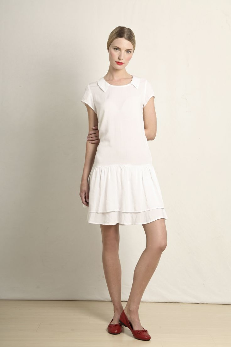 Chloe dress in white  GB202-wht  R699.00  www.georgieb.com