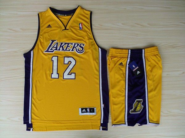... NBA Revolution 30 Jerseys Shorts Los Angeles Lakers 12 Dwight Howard  Swingman Yellow Home Rev Basketball ... e4e696c05