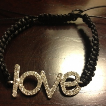 Black Love Bracelet at the Shopping Mall, $18.00