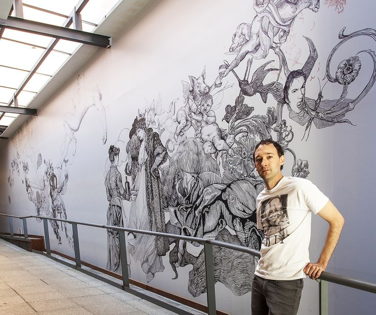 Wall-drawing-for-Zekka-Design-for-Men-ink-pen-on-wall-approximately-15-mgr-in-length-2009-2012.-Photograph-by-Bewley-Shaylor-2012