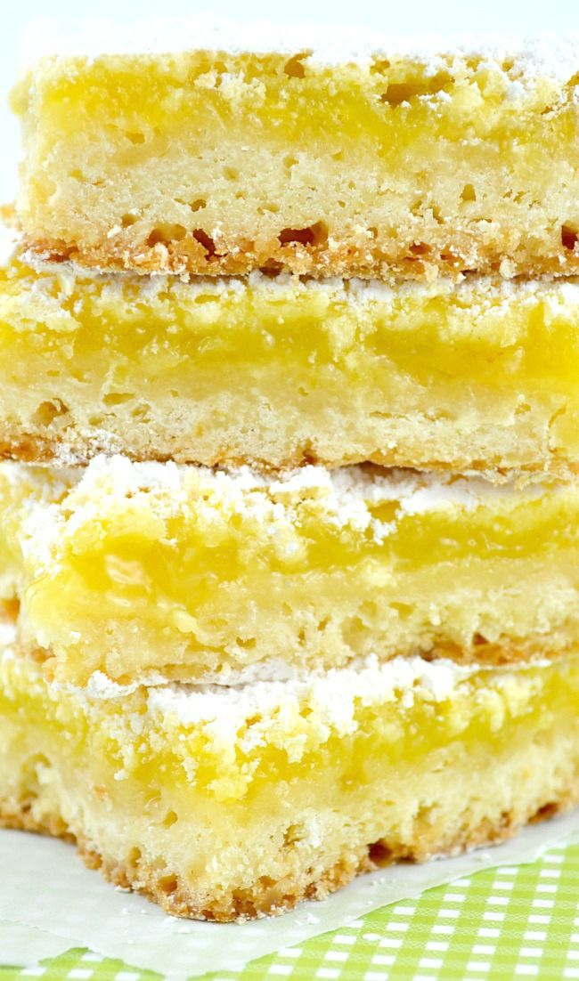 """""""Let's Open A FDJ Lemon Bars""""--Really delicious with just the right combo of sweet and tart"""