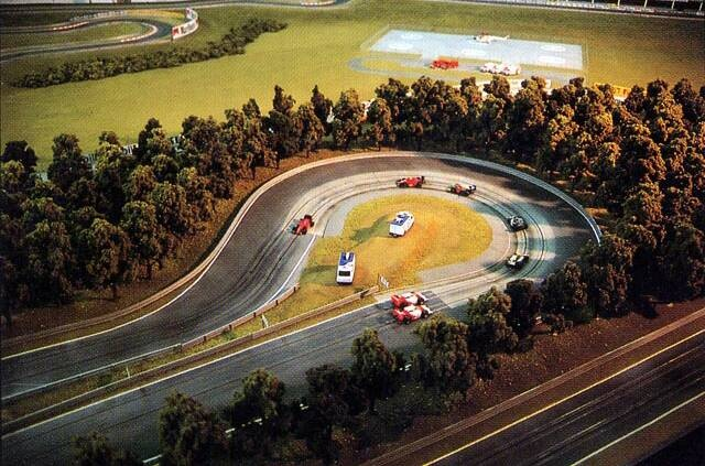 ho slot car track design
